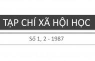 Tạp chí xã hội học – Số 1, 2 – 1987