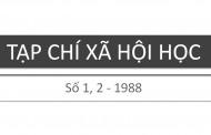 Tạp chí xã hội học – Số 1, 2 – 1988