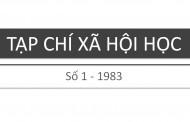 Tạp chí xã hội học – Số 1 – 1983