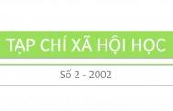 Tạp chí xã hội học – Số 2 – 2002