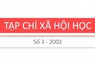 Tạp chí xã hội học – Số 3 – 2002