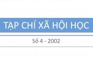Tạp chí xã hội học – Số 4 – 2002