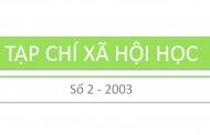 Tạp chí xã hội học – Số 2 – 2003