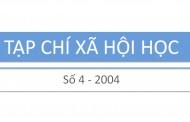 Tạp chí xã hội học – Số 4 – 2004