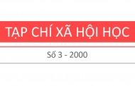 Tạp chí xã hội học – Số 3 – 2000