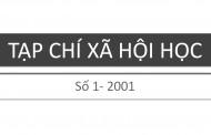 Tạp chí xã hội học – Số 1 – 2001