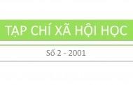 Tạp chí xã hội học – Số 2 – 2001
