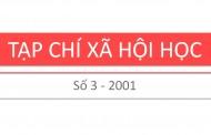 Tạp chí xã hội học – Số 3 – 2001