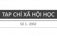 Tạp chí xã hội học – Số 1 – 2002