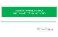 MÔ HÌNH PHÂN TÍCH XÃ HỘI THEO THUYẾT XÃ HỘI HỌC VI MÔ - Vũ Hào Quang