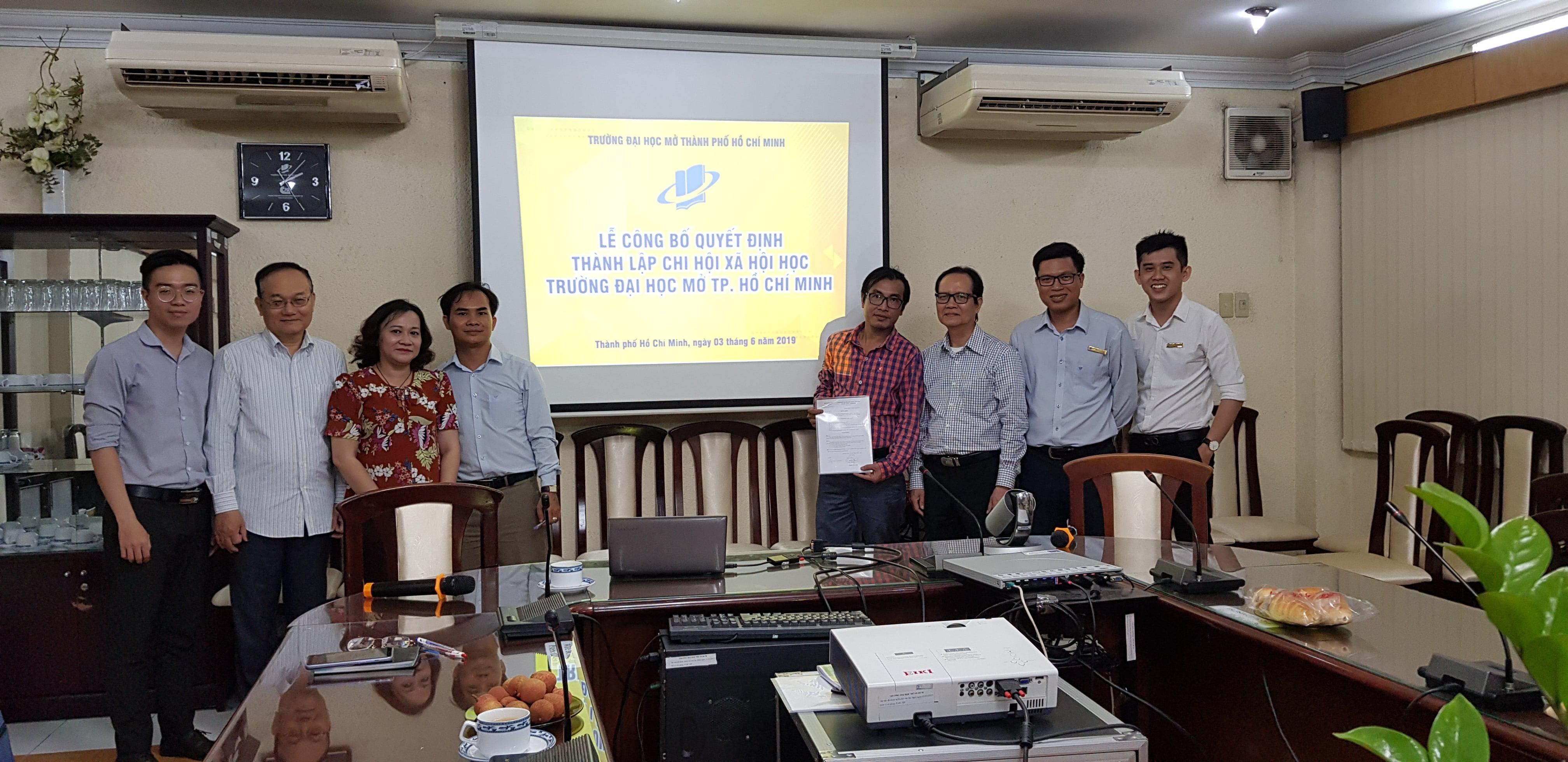 Lễ công bố quyết định thành lập Chi hội Xã Hội Học - Đại học Mở